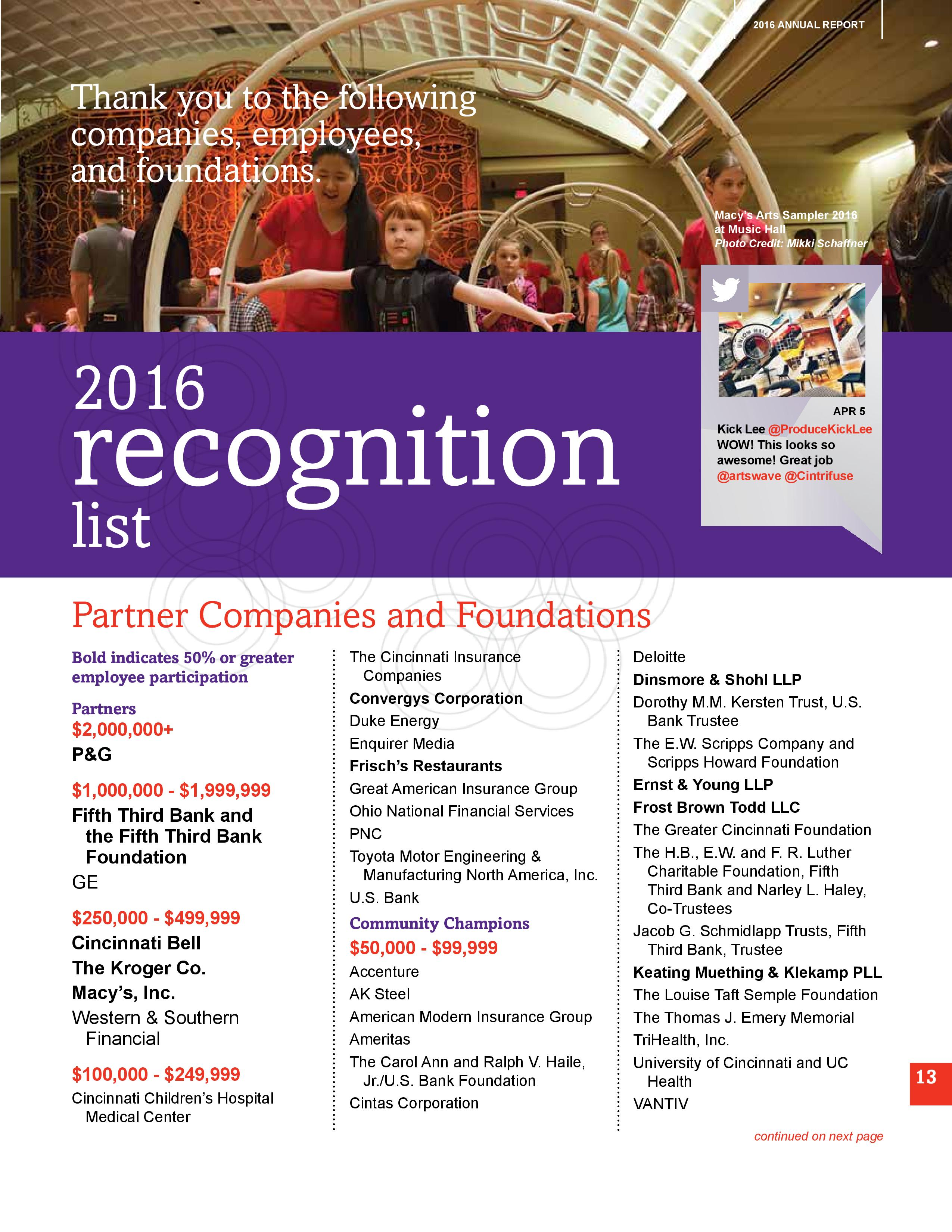 2016 Recognition List 1