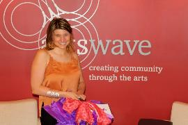 2018-05 ArtsWave Rewards Prize winner Fernanda Silva with Basket 1